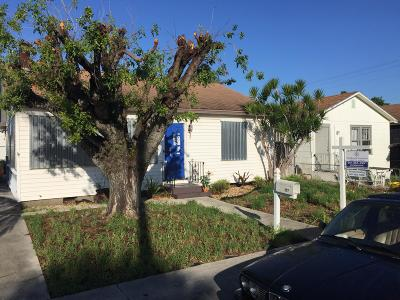 Lake Worth Single Family Home For Sale: 527 H Street
