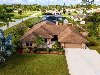 Port Saint Lucie, Saint Lucie West Single Family Home For Sale: 1278 SE Manth Lane