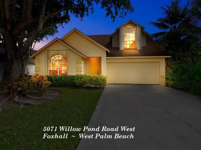 West Palm Beach Single Family Home For Sale: 5071 Willow Pond Road W
