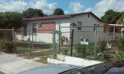 West Palm Beach Single Family Home For Sale: 731 19th Street