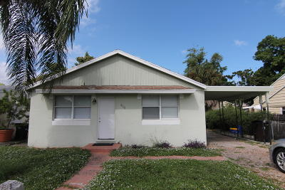 West Palm Beach FL Single Family Home For Sale: $179,900