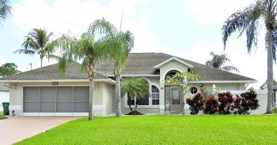 Port Saint Lucie Single Family Home For Sale: 4281 SW Hagaplan Street