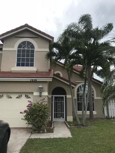 Lake Worth Single Family Home For Sale: 7636 Oakboro Drive