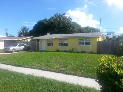 West Palm Beach Single Family Home For Sale: 1459 8th Street