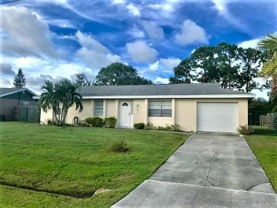 Port Saint Lucie Single Family Home For Sale: 345 NW Concord Drive
