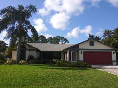 Port Saint Lucie, Saint Lucie West Single Family Home For Sale: 1882 SE Floresta Drive