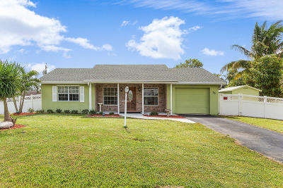 Lake Worth Single Family Home For Sale: 79 W Mango Road
