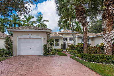 Boynton Beach Single Family Home For Sale: 9611 Crescent View Drive