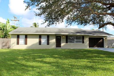 Lake Worth Single Family Home For Sale: 9091 Brandy Lane