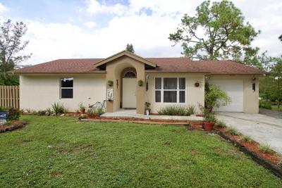 Loxahatchee Single Family Home For Sale: 16529 71st Lane