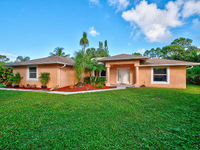 Jupiter Single Family Home For Sale: 12523 169th Court