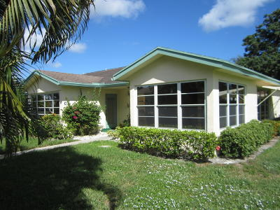 Delray Beach Single Family Home For Sale: 14308 Canalview Drive #C