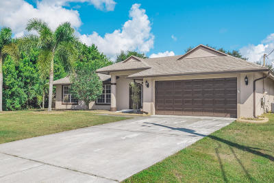 Port Saint Lucie, Saint Lucie West Single Family Home For Sale: 3457 SW Voyager Street