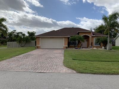 Port Saint Lucie, Saint Lucie West Single Family Home For Sale: 1802 SW Altman Avenue