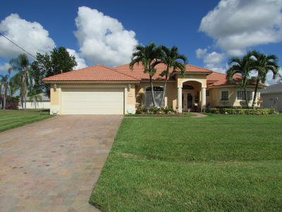 Port Saint Lucie, Saint Lucie West Single Family Home For Sale: 413 SW Dagget Avenue