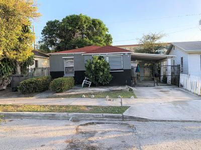 West Palm Beach Single Family Home For Sale: 1022 17th Street