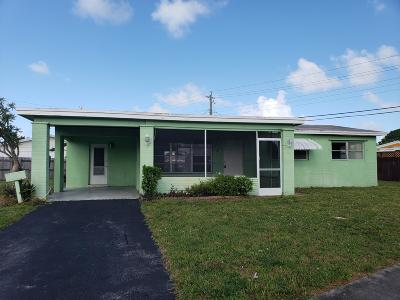 Deerfield Beach Single Family Home Contingent: 4000 NW 3rd Terrace