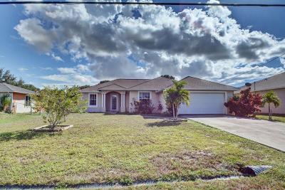 Port Saint Lucie, Saint Lucie West Single Family Home For Sale: 162 SW Oakridge