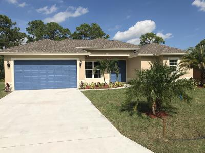 Port Saint Lucie, Saint Lucie West Single Family Home For Sale: 1725 SW Desert SW Avenue