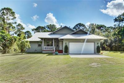 Fort Pierce Single Family Home For Sale: 5490 Melville Road