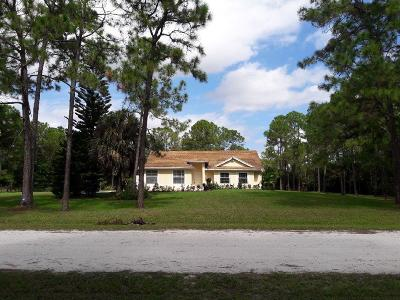 Loxahatchee Single Family Home Contingent: 16435 73 Court