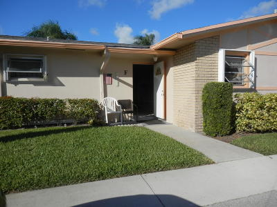 West Palm Beach Single Family Home For Sale: 2607 Dudley Drive W #F
