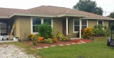 Okeechobee Single Family Home For Sale: 7273 NW 80th Court