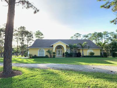 West Palm Beach Single Family Home For Sale: 7245 Coconut Boulevard