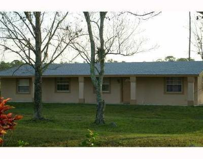 Loxahatchee Single Family Home For Sale: 1216 C Road