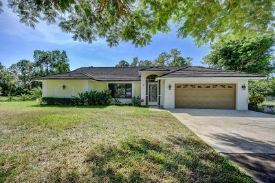 Loxahatchee Single Family Home For Sale: 14616 Tangerine Boulevard