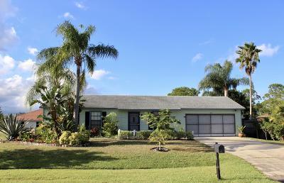 Port Saint Lucie Single Family Home For Sale: 307 SW Grimaldo Terrace