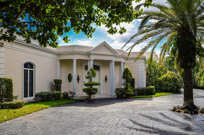 Palm Beach Single Family Home For Sale: 150 El Vedado Road