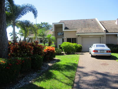 Lake Worth, Lakeworth Single Family Home For Sale: 6817 Fountains Circle