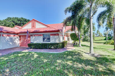Delray Beach Single Family Home For Sale: 7960 Lexington Club Boulevard #B