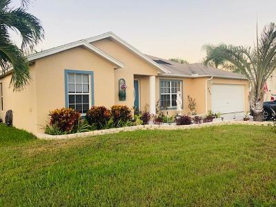 Port Saint Lucie Single Family Home Contingent: 985 SW Sultan Drive