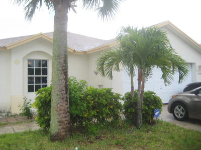 West Palm Beach Rental For Rent: 1430 Red Apple Lane
