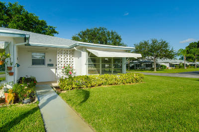 Delray Beach Single Family Home For Sale: 1170 S Drive Circle #D