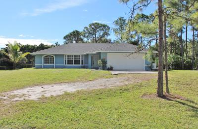 Loxahatchee Single Family Home For Sale: 15580 80th Lane
