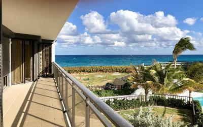 Palm Beach Condo For Sale: 3100 S Ocean Boulevard #201 N