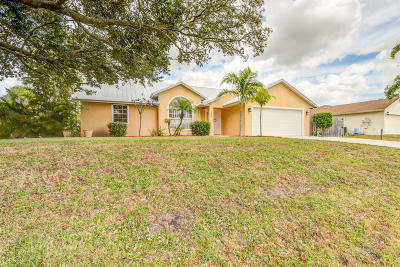 Port Saint Lucie Single Family Home For Sale: 398 SW Hollyhock Drive