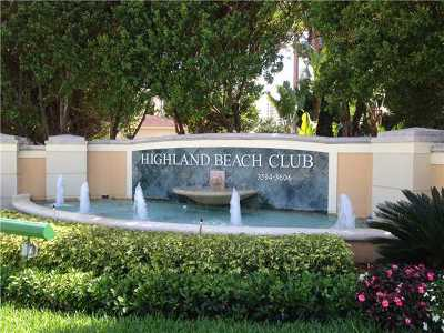 Highland Beach Rental For Rent: 3594 S Ocean Boulevard #506