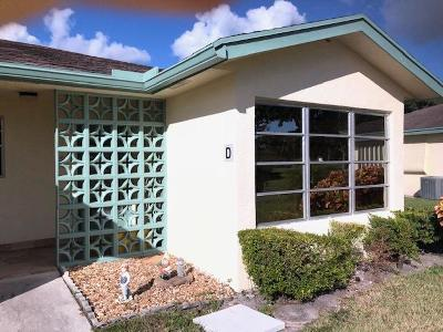 Delray Beach Single Family Home Contingent: 5248 Lakefront Boulevard #D
