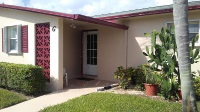 West Palm Beach Single Family Home For Sale: 2960 Crosley Drive E #G