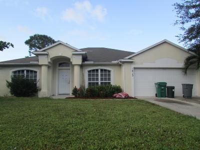 Port Saint Lucie Single Family Home For Sale: 1013 SW Coleman Avenue