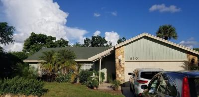 Royal Palm Beach Single Family Home For Sale: 860 Royal Palm Beach Boulevard