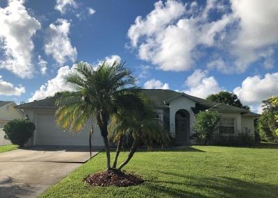 Fort Pierce Single Family Home For Sale: 1205 Egret Avenue