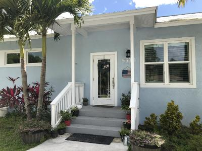 West Palm Beach Single Family Home For Sale: 5530 Mango Boulevard