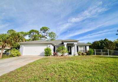 Vero Beach Single Family Home For Sale: 9120 81st Street