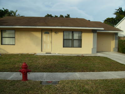 Lake Worth, Lakeworth Single Family Home For Sale: 6043 Triphammer Road
