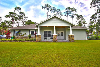 Loxahatchee Single Family Home For Sale: 14412 72nd Court